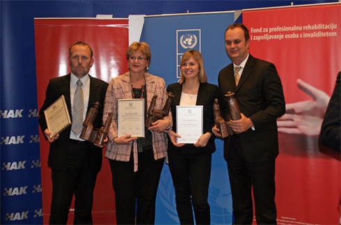"Zvijezda awarded the ""Employer of the Year of Persons with Disabilities"""