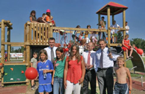 "Two more children's playgrounds opened within the action ""Let's give playgrounds back to children"""