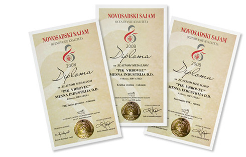 Gold medals on Novi Sad Fair