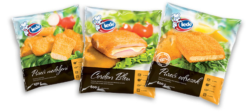 Breaded turkey meat - novelty in Ledo range of frozen food products!
